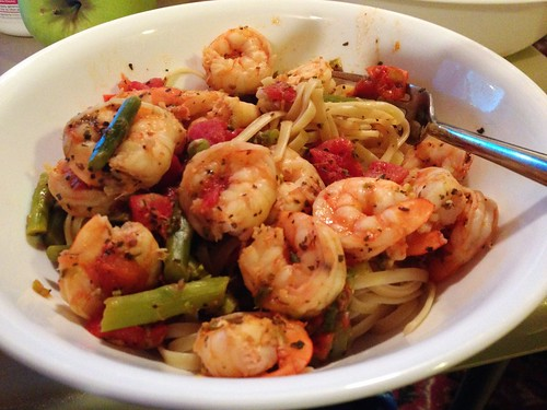Linguine with Shrimp and Asparagus