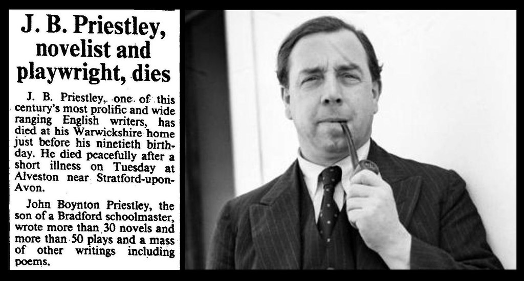 jb priestly John boynton j b priestley, om (/ ˈ p r iː s t l i / 13 september 1894 – 14 august 1984), was an english novelist, playwright, scriptwriter, social.