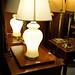 Glass swirl lamp