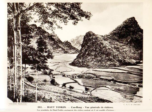 Collection COLONIES FRANCAISES années 1930 - HAUT TONKIN. Cao-Bang - Vue générale de rizière. Ruộng lúa ở Cao Bằng