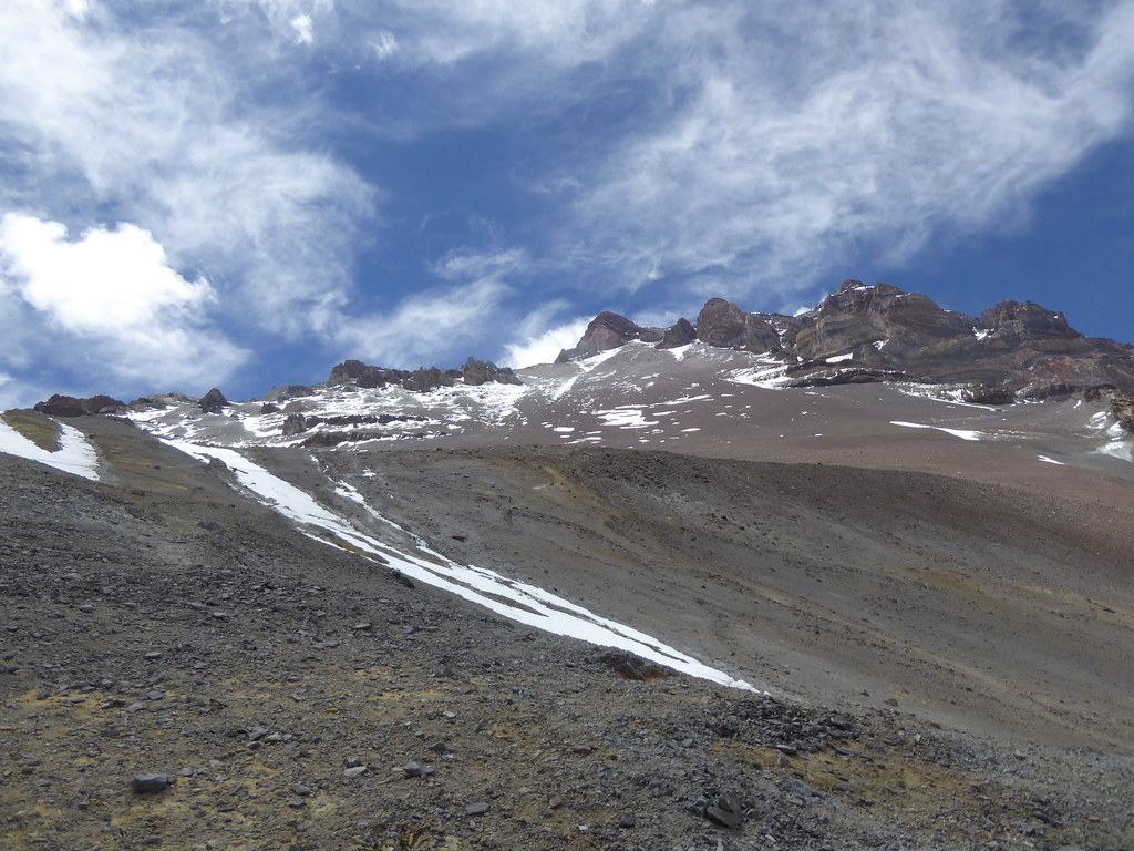 Between Nido de Condores and Camp Canada, Aconcagua