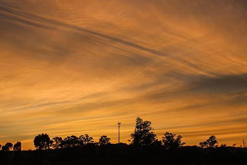 sunset sky orange inspiration nature clouds sunrise landscape fire traces zen mecelis