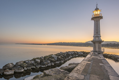 Lake Geneva at Sunrise