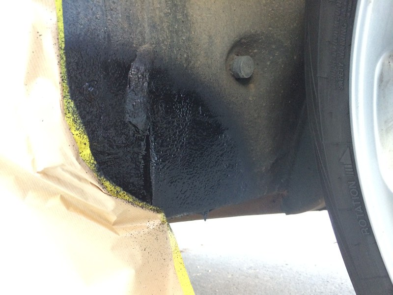 Rust in wheel well