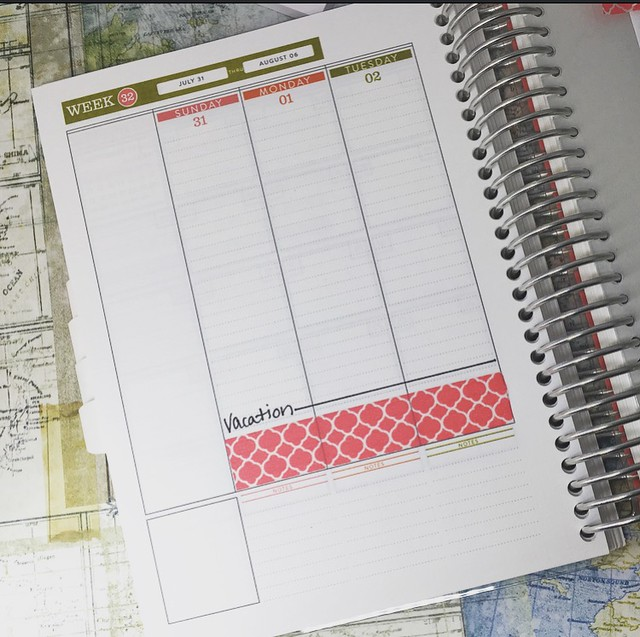 Planner travel pages