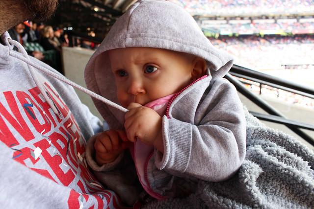 Peyton's first baseball game