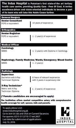 The Indus Hospital Career Opportunities