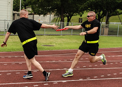 Service and sportsmanship: Camp Zama community runs, kicks and pulls toward the end of Army Birthday Week