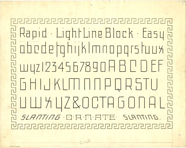 Light Line Block Marking or Skeleton typeform
