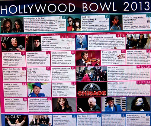 Hollywood Bowl schedule