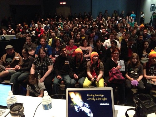 Shot of some of the audience from the @Ott_Browncoats panel today at #OCC20130