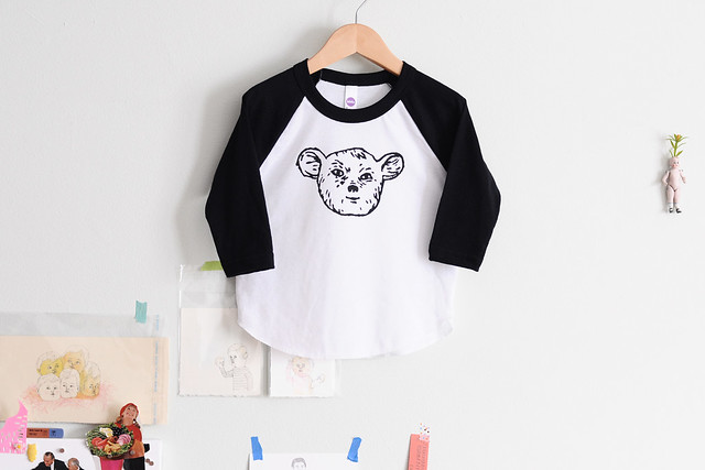 kids sleepy creature raglan tee