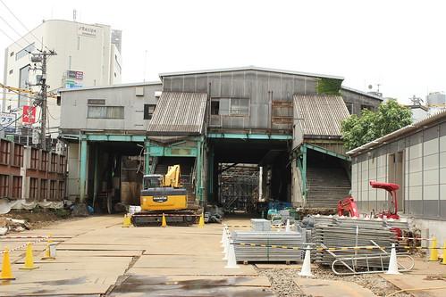 下北沢旧駅舎解体中