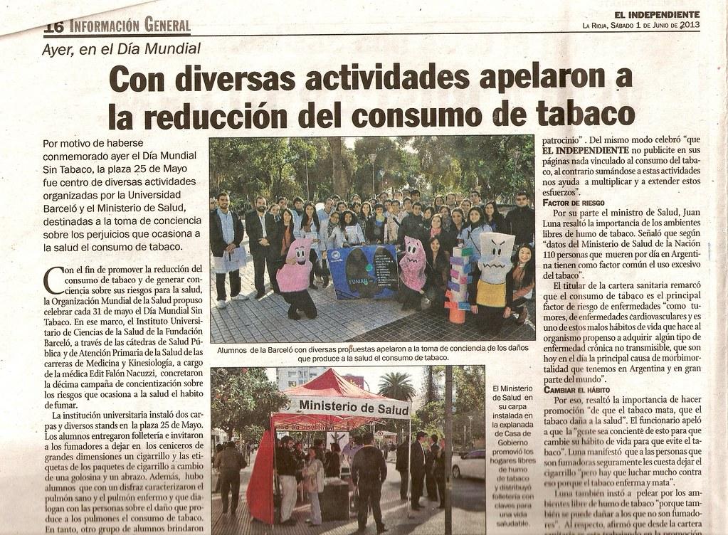 Campaña Día Mundial Sin Tabaco (2) - El Independiente - 1.06.2013