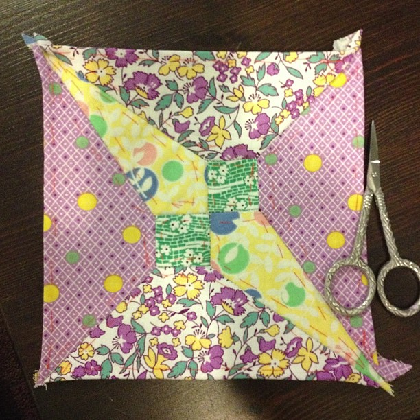 """Block 1 of 4 in my """"Going Slightly Blind Miniquilt"""""""