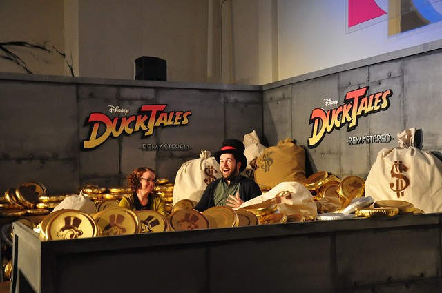 Scrooge McDuck's money bin for DuckTales Remastered at iam8bit gallery