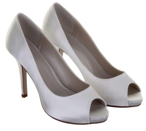 White Classic Bridal Shoes