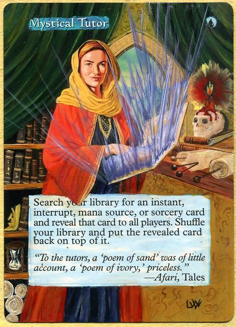 Mystical Tutor Altered Art Magic the gathering artwork illustration art extension