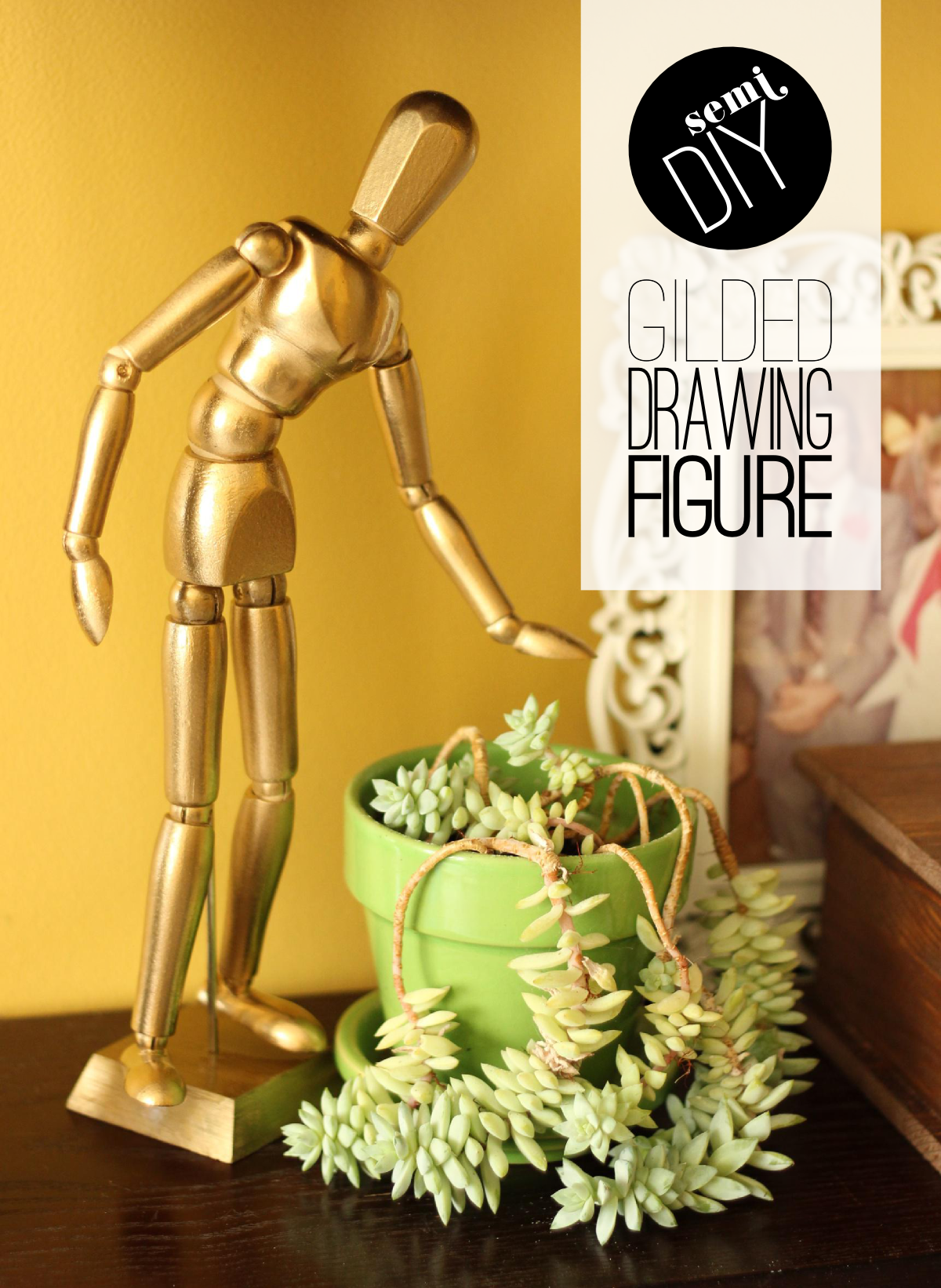 Fabric Paper Glue | DIY Gilded Drawing Figure