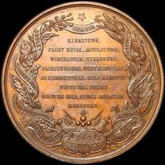 Stonewall Jackson medal reverse