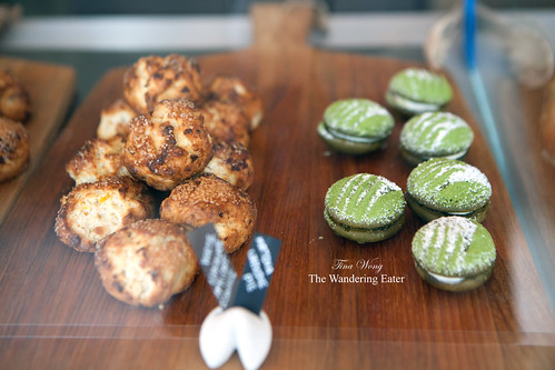 White chocolate apricot scones and mini green tea whoopie pies