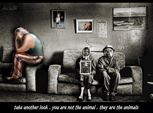 take another look .. you are not the animal . by Aries Parcum
