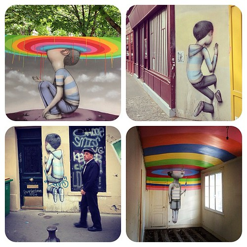 "Paris street artist, Julien ""Seth"" Malland @seth_globepainter . loving this series. (found through @upperplayground thankyou!) #globepainter by audkawa"