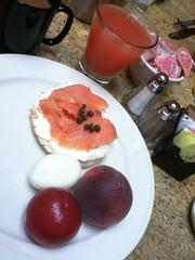 Pink and purple breakfast