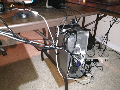 The Pc Weenies Cable Management In The Studio Before