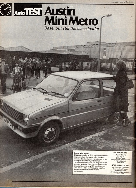 Austin Mini Metro Road Test 1981 (1)