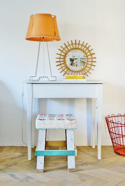 wood & wool sunshine stool catherine
