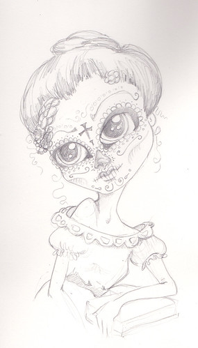 Drawings Day of the Dead by wickeddollz