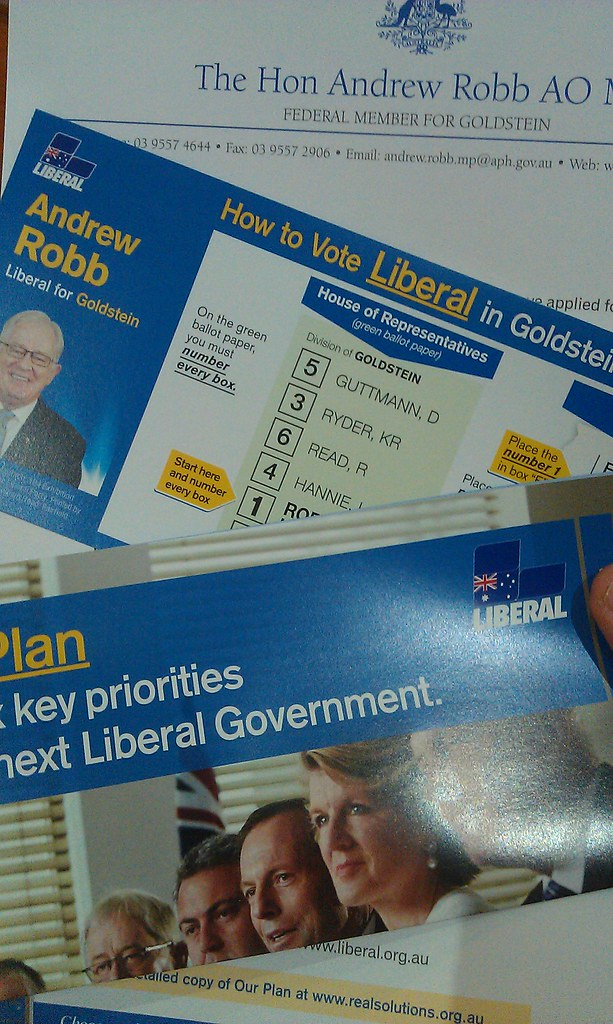 Liberal party election material