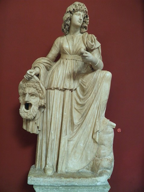 Statue of Melpomene, Muse of Tragedy, found at the Villa of Cassius at Tivoli, Hadrianic period (AD 117-138), Vatican Museums