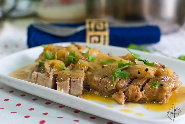 Pork Roast with Orange-Mango and Onions
