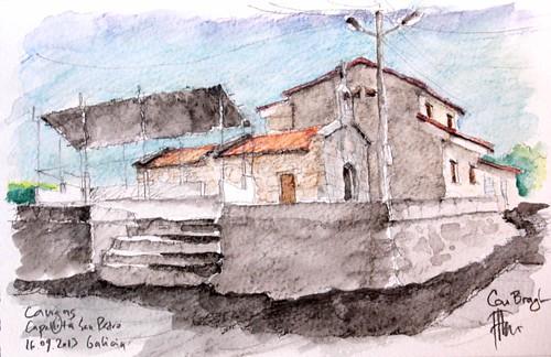 Cangas, Capelita San Blas, Darbo