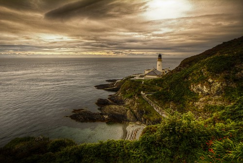 sunset lighthouse beach clouds landscape dusk head douglas isleofman waterscape douglasharbour