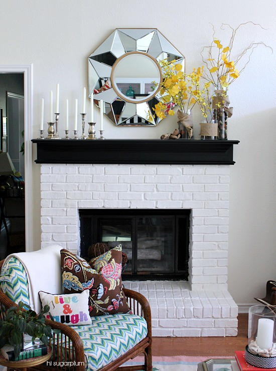 Hi Sugarplum | Simple Fall Mantel