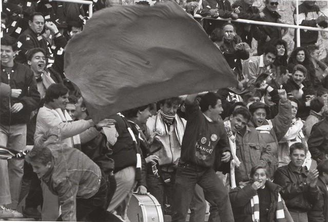 Aficionados del CD Toledo durante un partido de la temporada 1992/1993