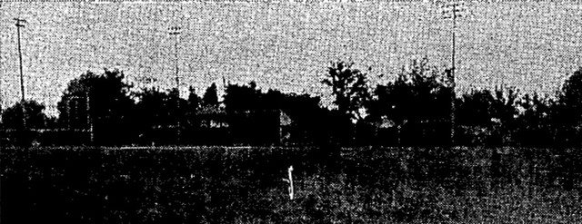 A grainy photo of Smiley Park, which appeared in The Sporting News on 7/25/1940.