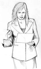 Frau, Geschaeftsfrau, Business, Kleidung