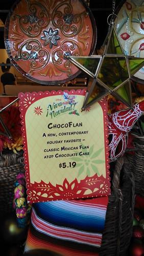 Viva Navidad Chocolate Flan Menu
