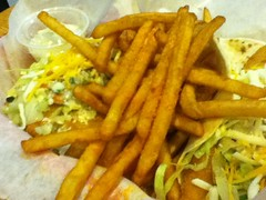 Fish tacos and fries