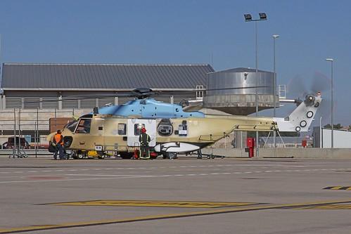 Foto del NH90 GSPA04 en la planta de Eurocopter en Albacete