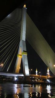 Image of Rama VIII Bridge. bridge river thailand bangkok chaophrayariver ramaviiibridge