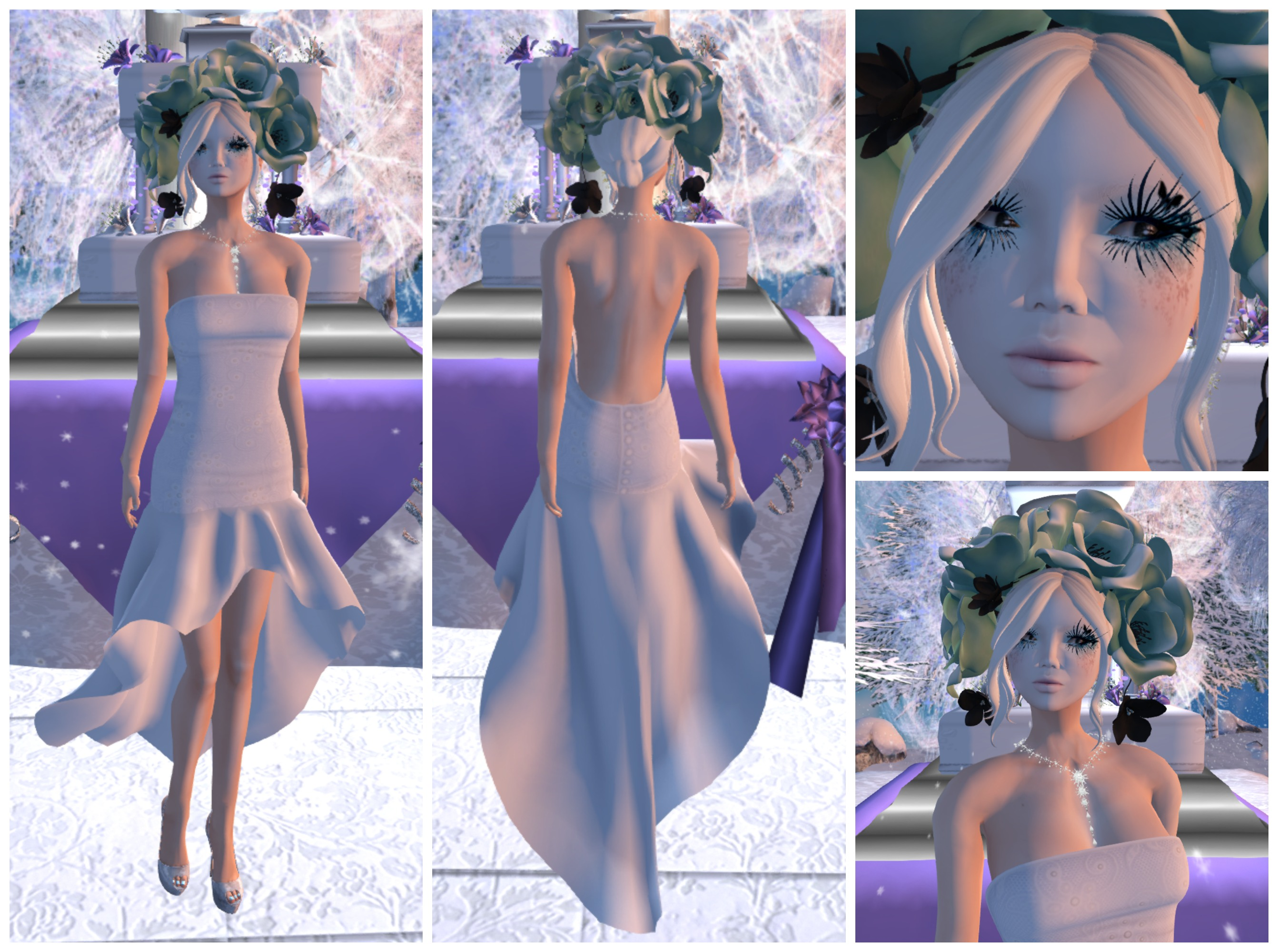 Tableau Vivant - Snow Queen  feat Coquet Shiver Formal Gown