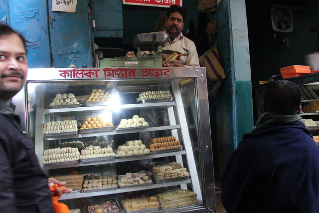 Sampling some sweets of Varanasi