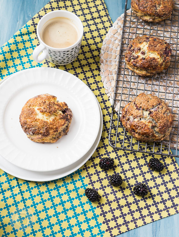 BLACKBERRY ORANGE SCONES