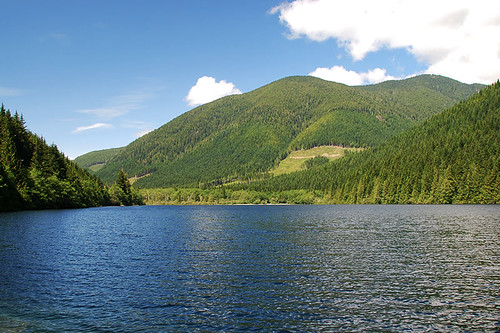 Francis Lake near Bamfield, West Coast Vancouver Island, British Columbia