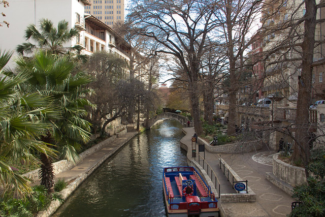 San Antonio Riverwalk Panoramic
